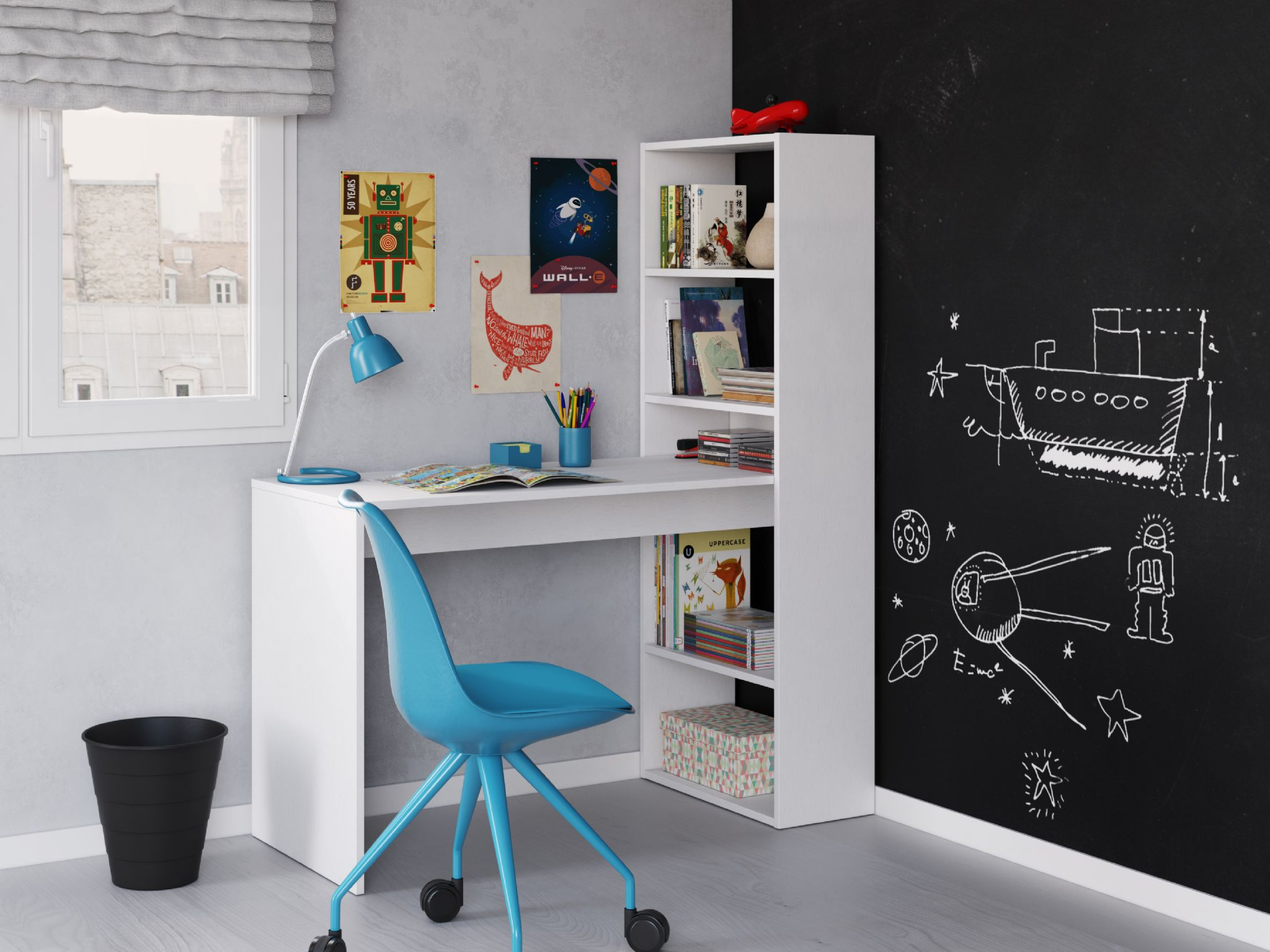 study white decorate green room bookshelf with and wall furniture brown interesting desk by grey of combined your wooden design to large chair drawers